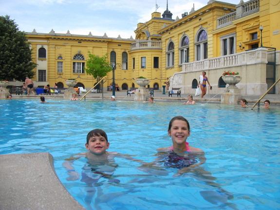 At the Széchenyi Bath in Budapest. Photo courtesy of Allison Czarnecki.