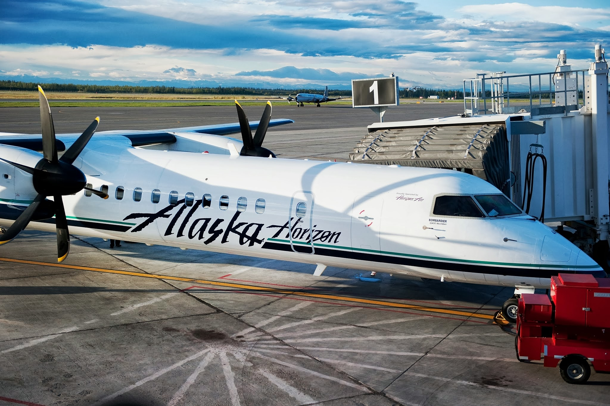 Q400 in Fairbanks