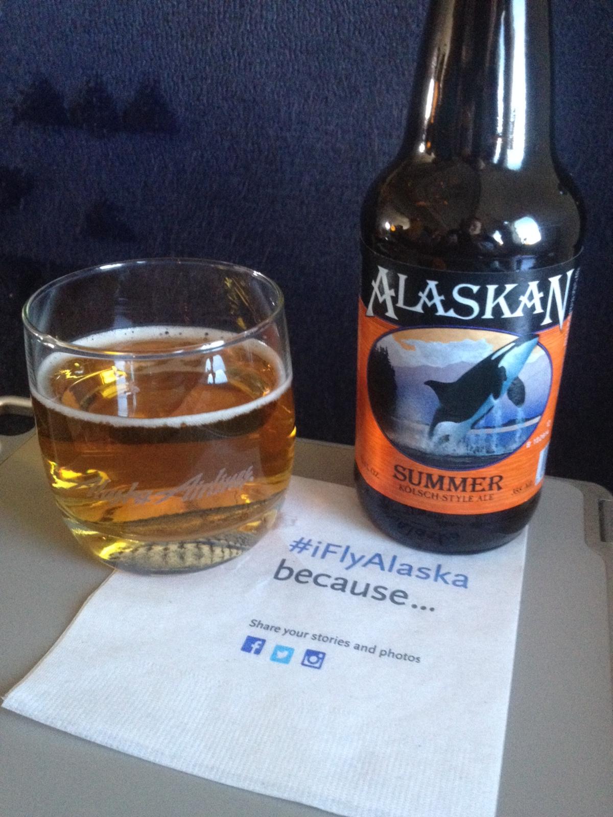 alaskan amber beer onboard alaska airlines