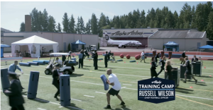 Russell Wilson training camp - Champions Never Rest