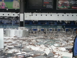 Los Cabos International Airport was severely damaged.