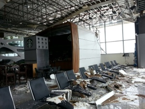 Los Cabos International Airport after Hurricane Odile.