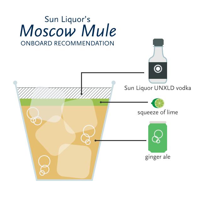 Sun Liquor onboard Moscow Mule