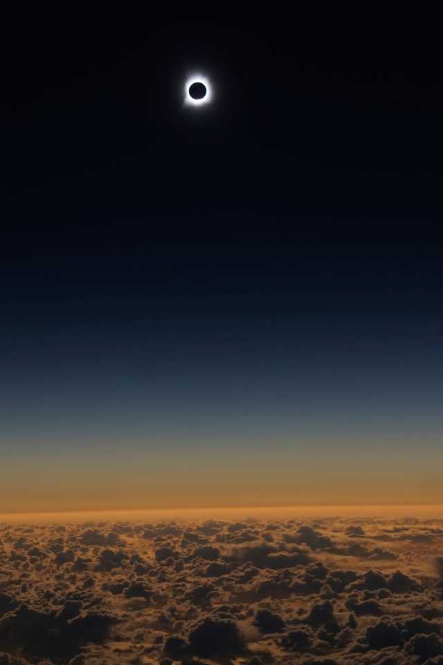 Eclipse photograph by Alaska Airlines.