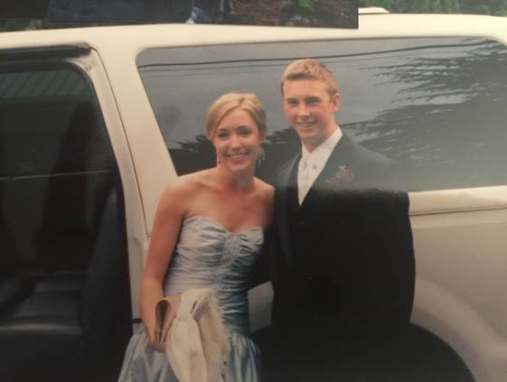 Lauren and Justin at senior prom.