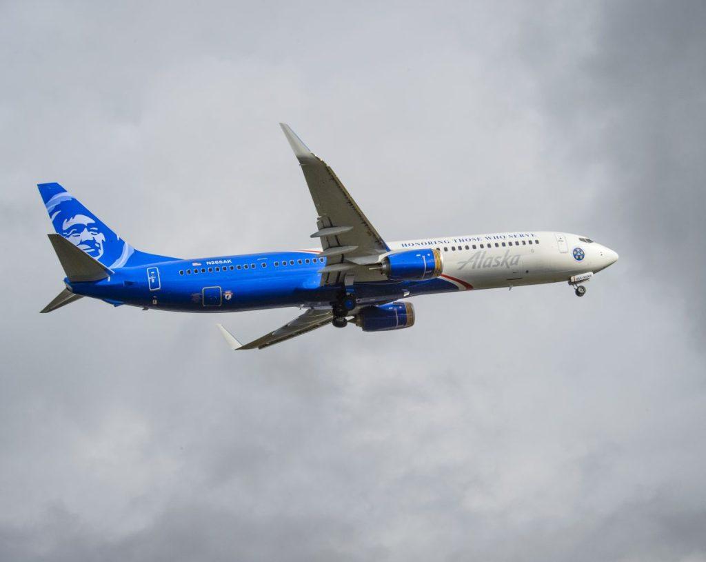 Alaska Airlines Tribute to Veterans Livery Flyaway