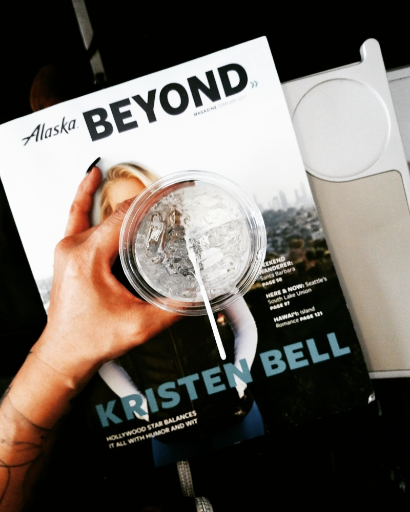 Getting this #weekendwanderer with @alaskaair started with a cocktail in the sky - we can't wait to share our AUSTIN, TX visit of food, drinks and culture.