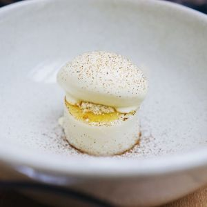 This is a photo of a small pastry-like tapas dish