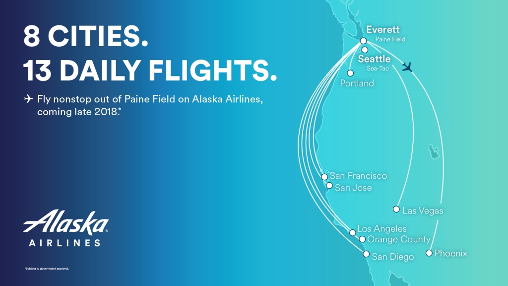 Alaska unveils 13 daily departures to 8 destinations from ...
