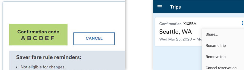 skip the hold music change or cancel your trip online