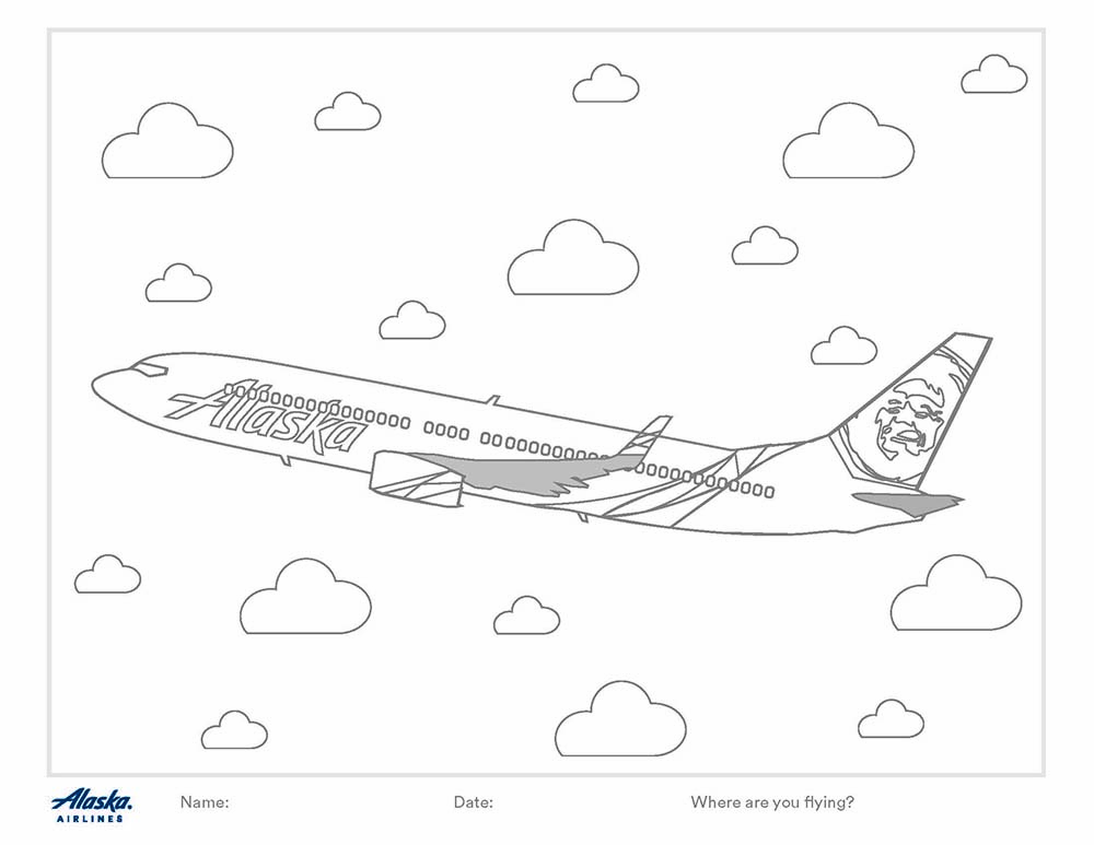 6 Alaska Airlines Coloring Pages You Can Color At Home Alaska Airlines Blog